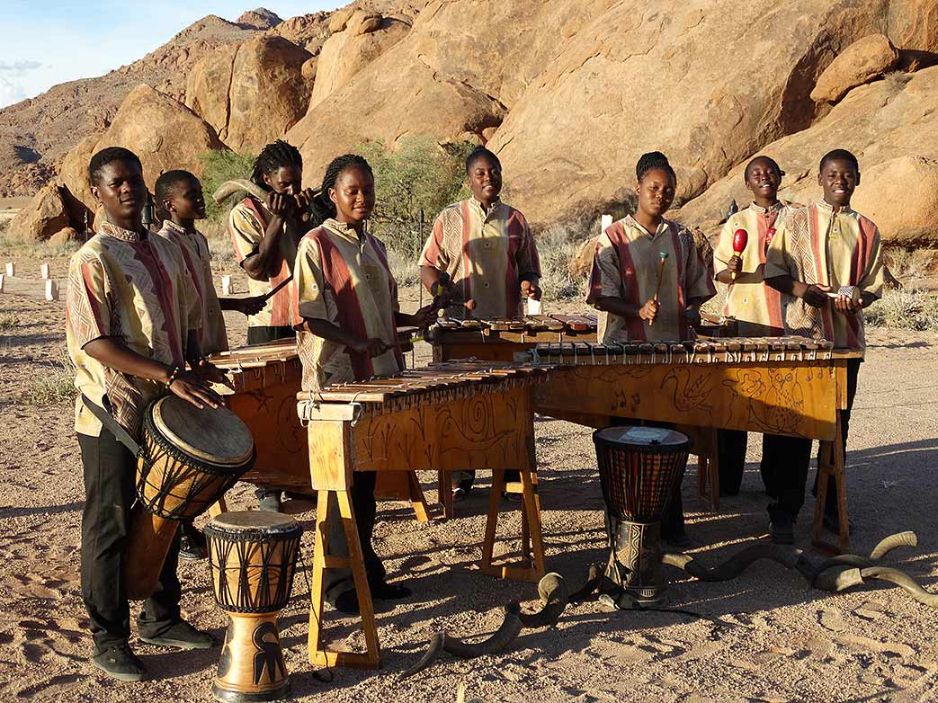 Namib Marimba Band in the Desert