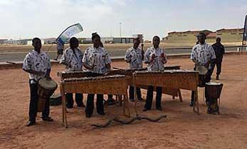 Namib Marimbas performing in Swakopmund