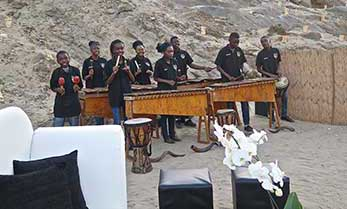 Namib Marimbas performing at a private function