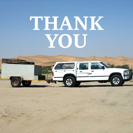 Namib Marimbas Car & Trailer - Thank you