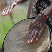Playing the African Drum